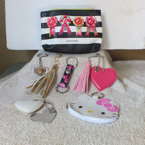 0aa89dace4bd Sephora Bags - Bundle Sephora make-up bag   key chains charms